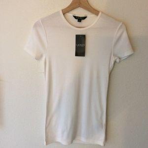 NWT Lauren Ralph Lauren White Cotton T-shirt